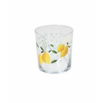 Tognana Clear Panarea 6 Bicchieri Da Acqua 340 cc Trasparente con Stampa Frutta Esotico Per La Tavola