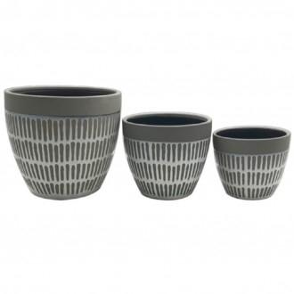 Set 3 P. Vaso Yucatan Ceramica