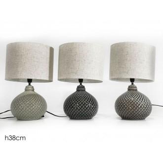 General Trade Lampada 38 cm In Ceramica Decorata in Vari Colori Da Camera o Salotto Elegante