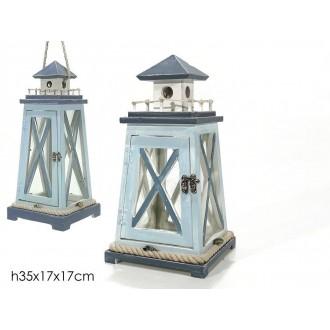 General Trade Lanterna Con Decorazione Marine Stile Mare Con Manico In Legno da Casa Decorare