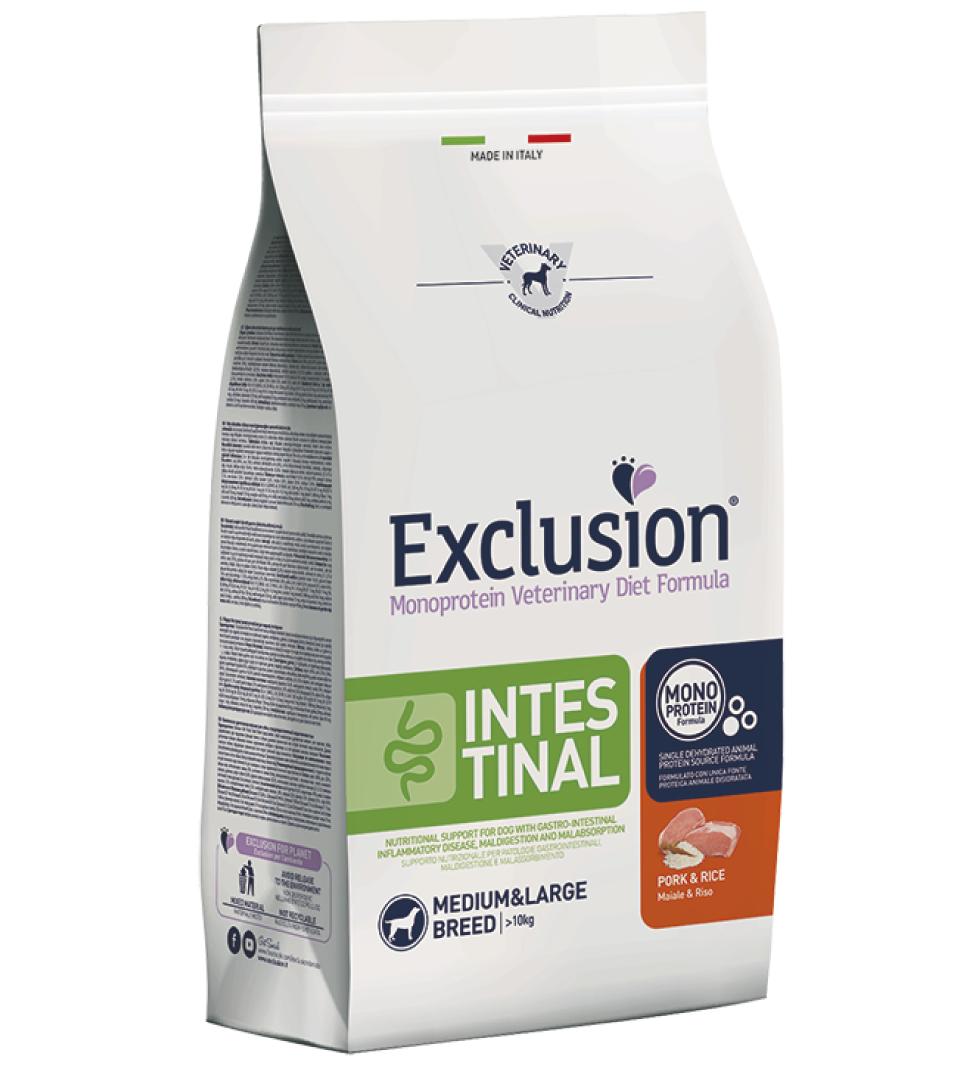 Exclusion - Veterinary Diet Canine - Intestinal - Medium/Large - 12Kg x 2 sacchi