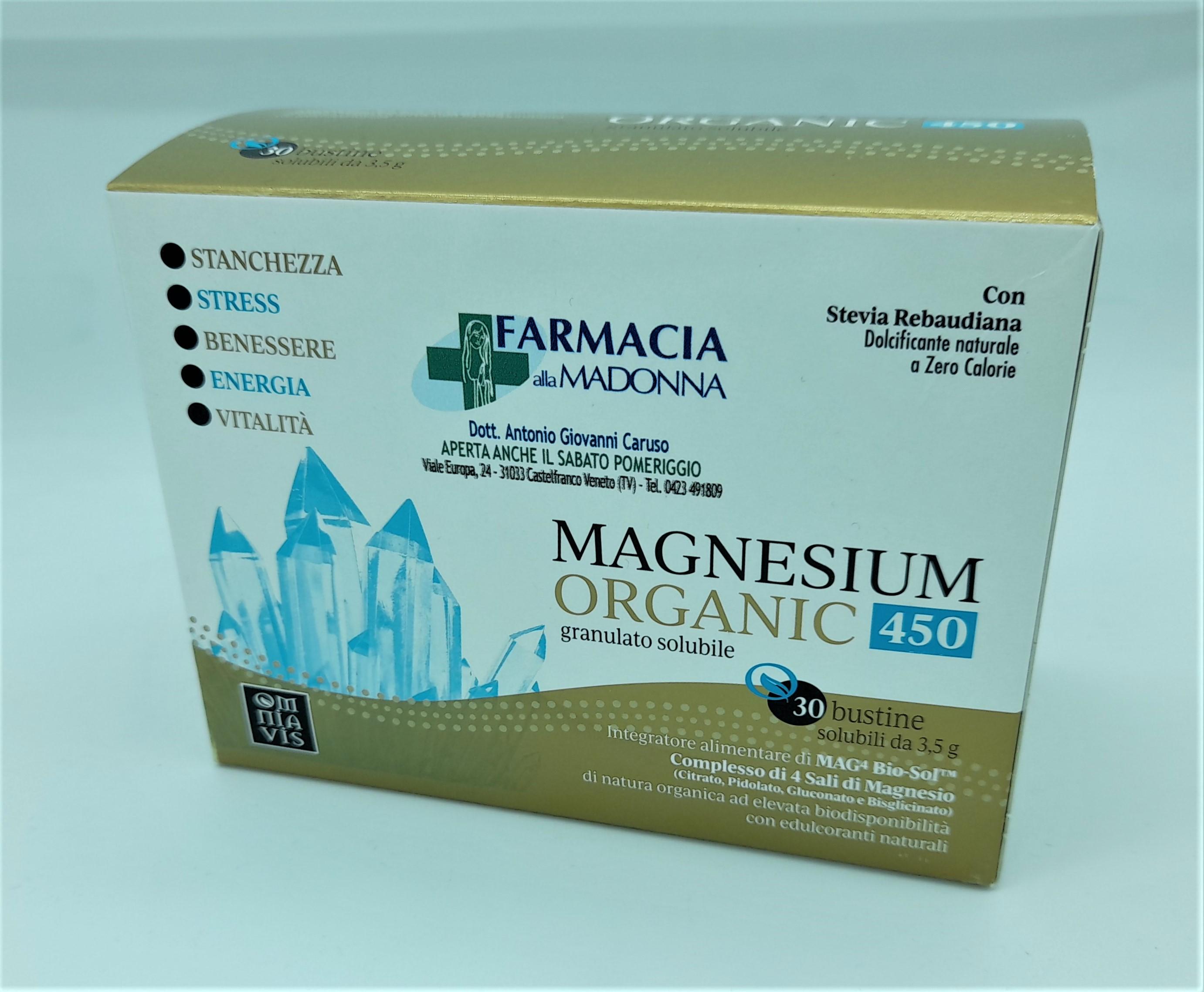 MAGNESIUM ORGANIC 450, Farmacia alla Madonna