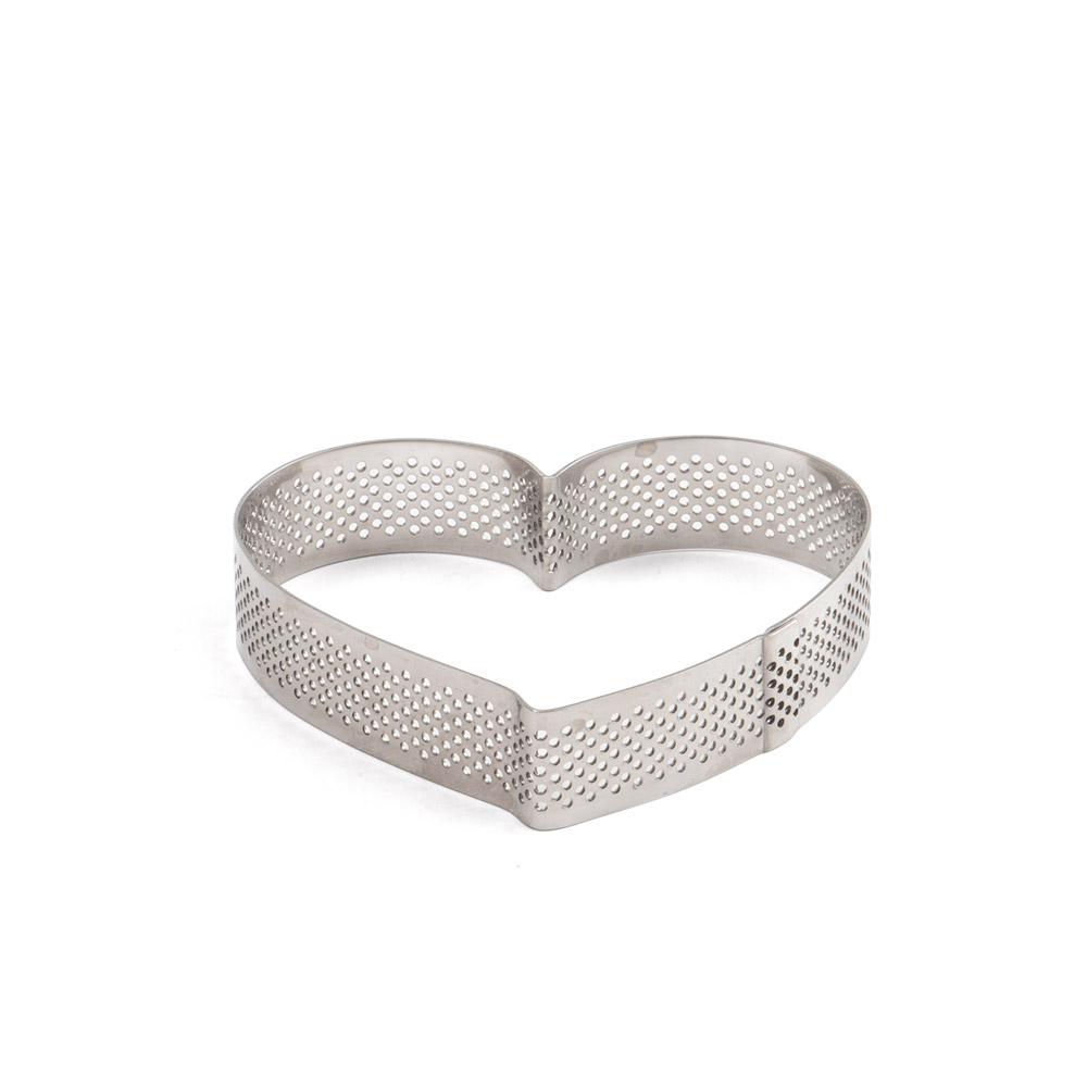 Sagoma Inox Microforata cuore cm. 18x16x h 3,5