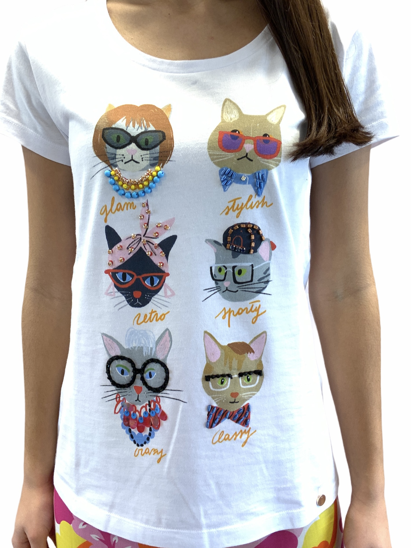 VERY SIMPLE T-SHIRT STAMPA GATTI