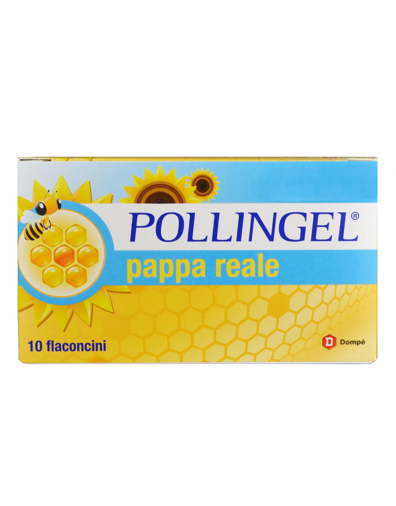 POLLINGEL PAPPA REALE 10 FLACONCINI POLLINE E PAPPA REALE IN CASO DI AFFATICAMENTO E CONVALESCENZA AUMENTA LE DIFESE IMMUNITARIE DELL' ORGANISMO.