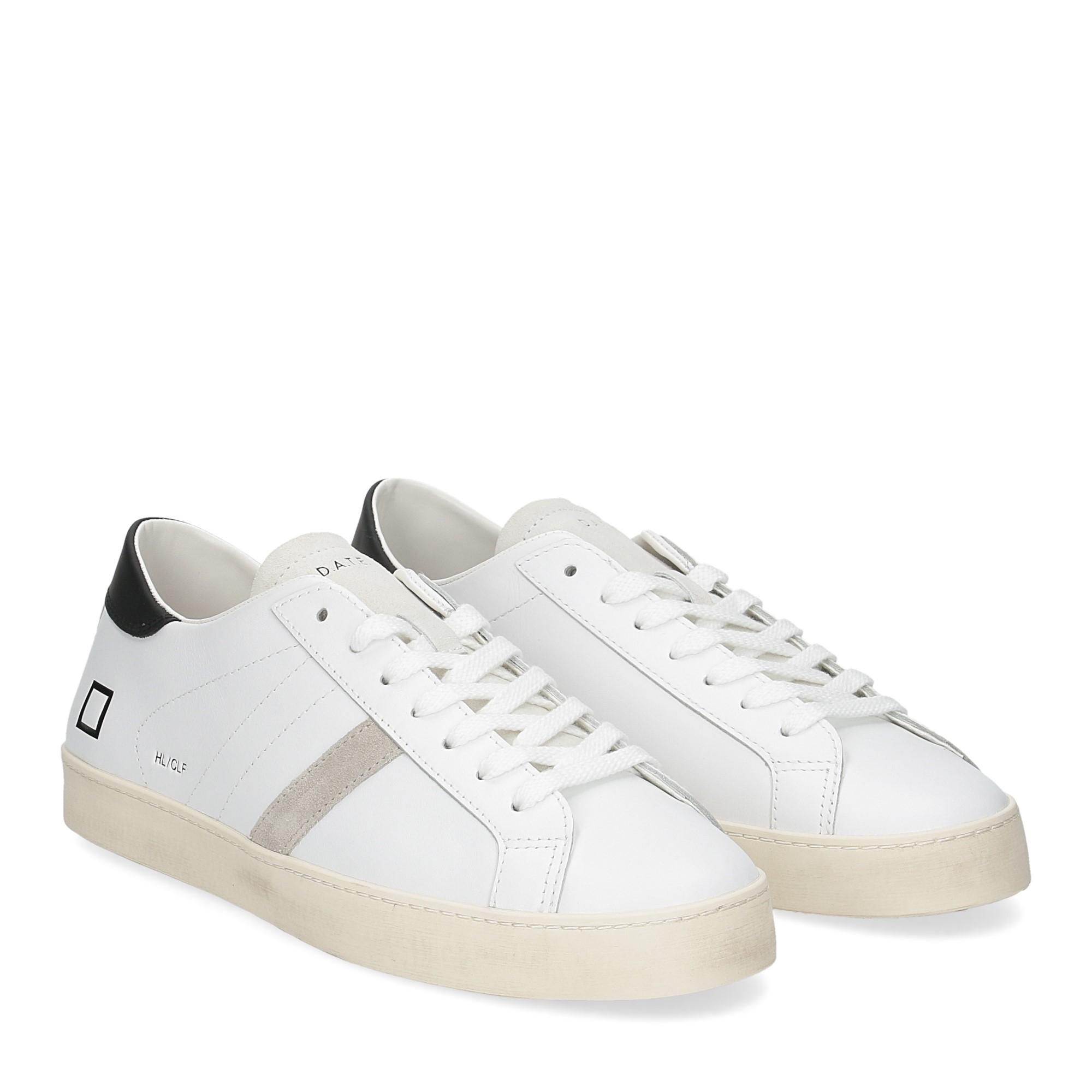 D.A.T.E. Hill low calf white black