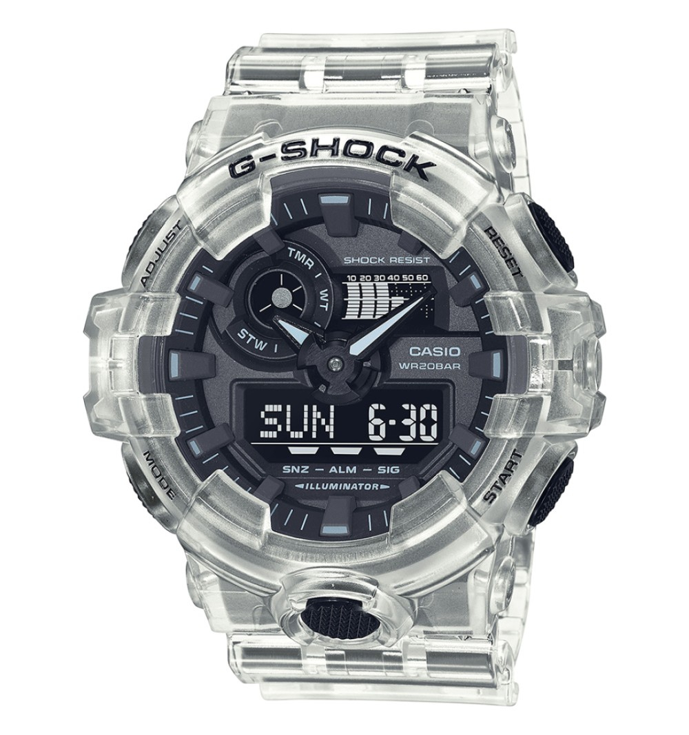 Casio orologio G-Shock, transparent white analogico-digitale