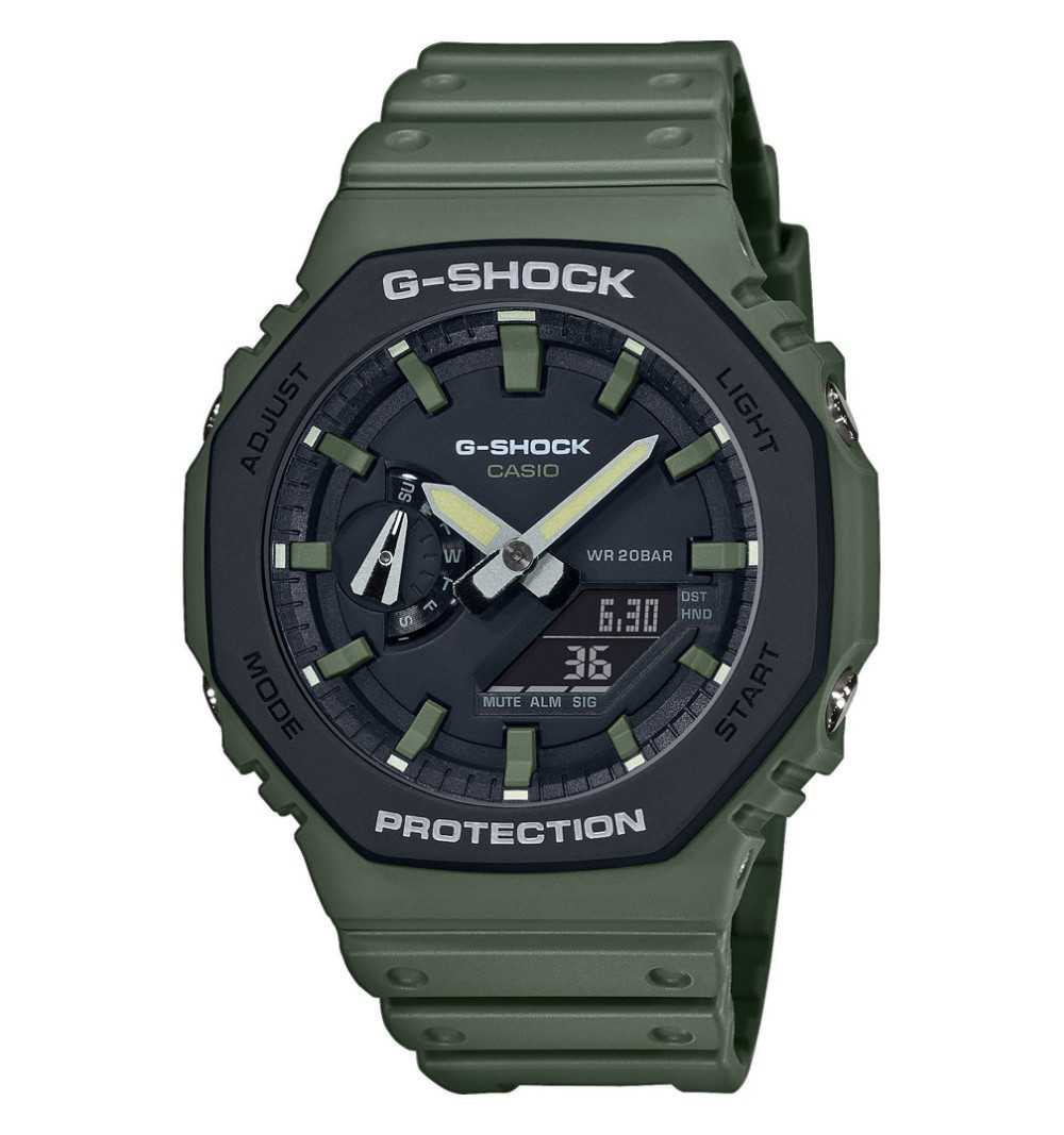 Casio G-Shock, orologio digitale multifunzione, verde militare