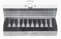 Assortimento di chiavi a bussola a brugola con attacco quadro 1/4