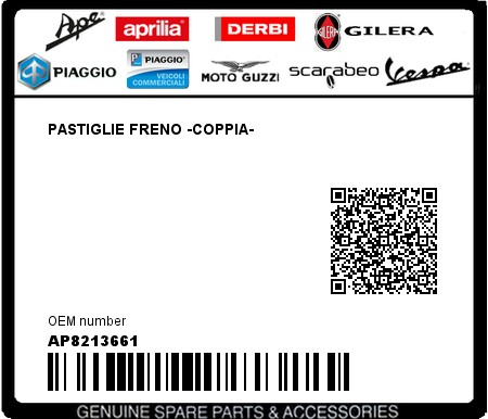 Pastiglie Freno Aprilia Atlantic/Scarabeo