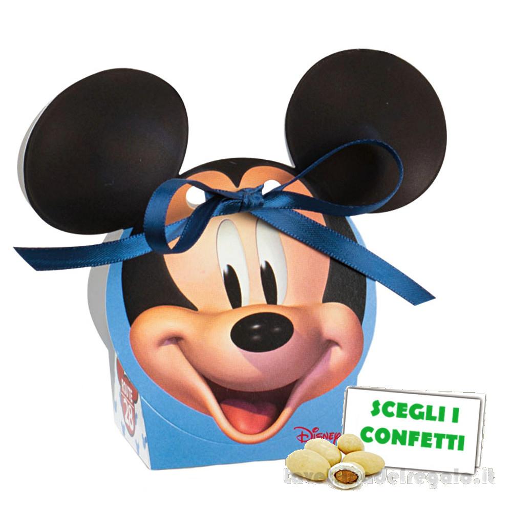 Portaconfetti Mickey Go Route 28 Celeste 5.5x4x10.5 cm - Scatole battesimo bimbo