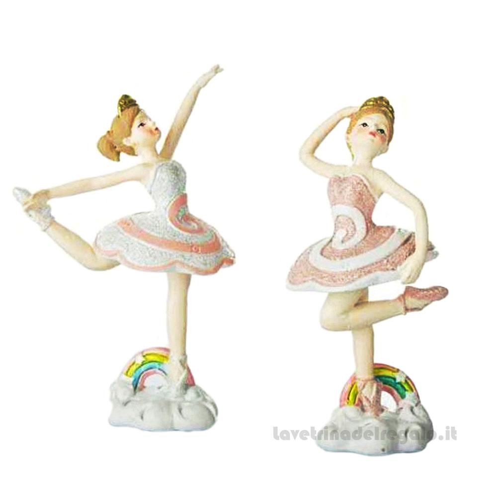 Ballerina danza classica con Arcobaleno in resina 12 cm - Bomboniere comunione bimba