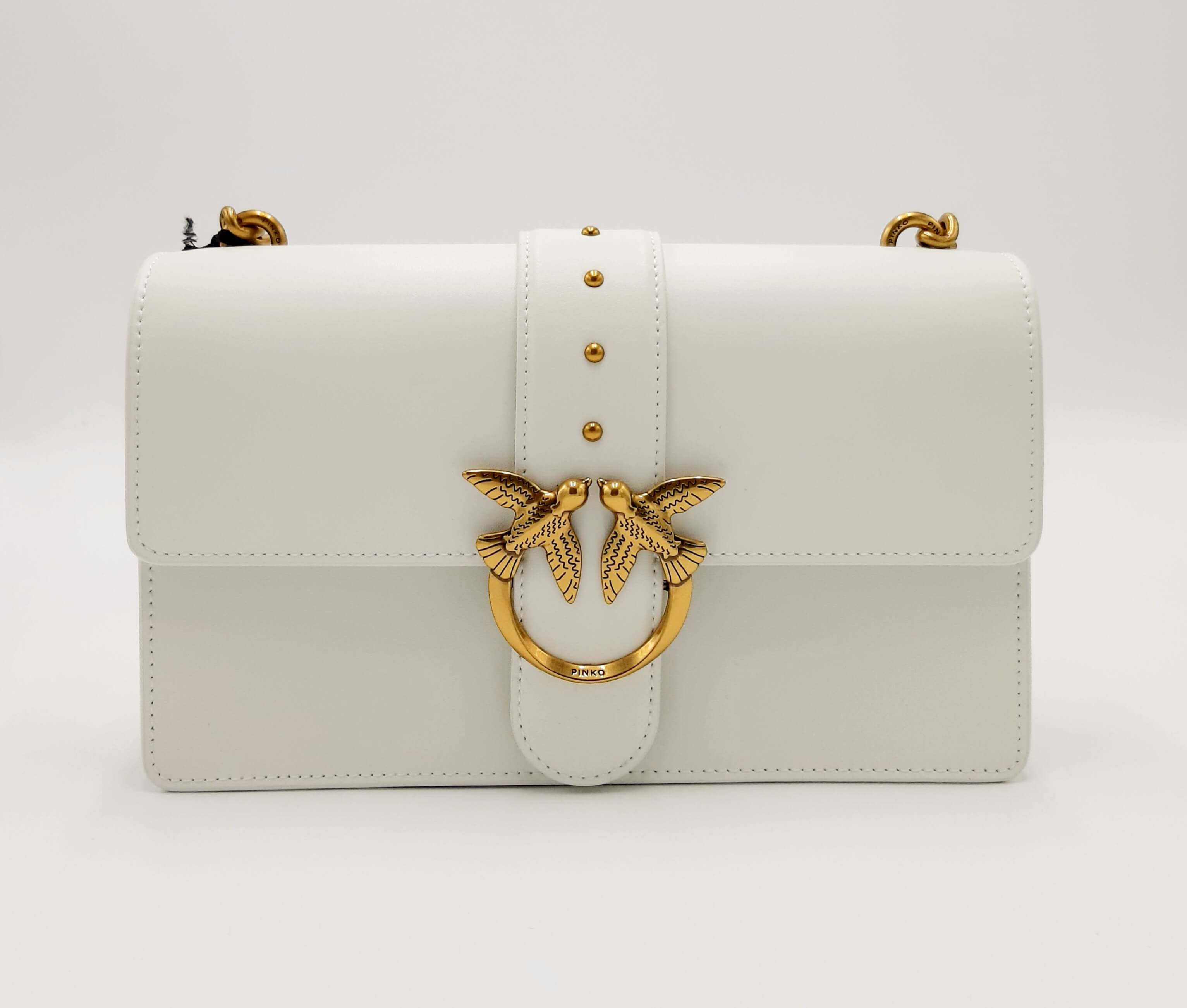 Tracolla Love bag classic bianca Pinko.