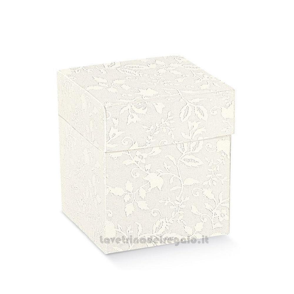 Scatola Harmony Bianca pieghevole con coperchio Varie Dimensioni - Scatole bomboniere