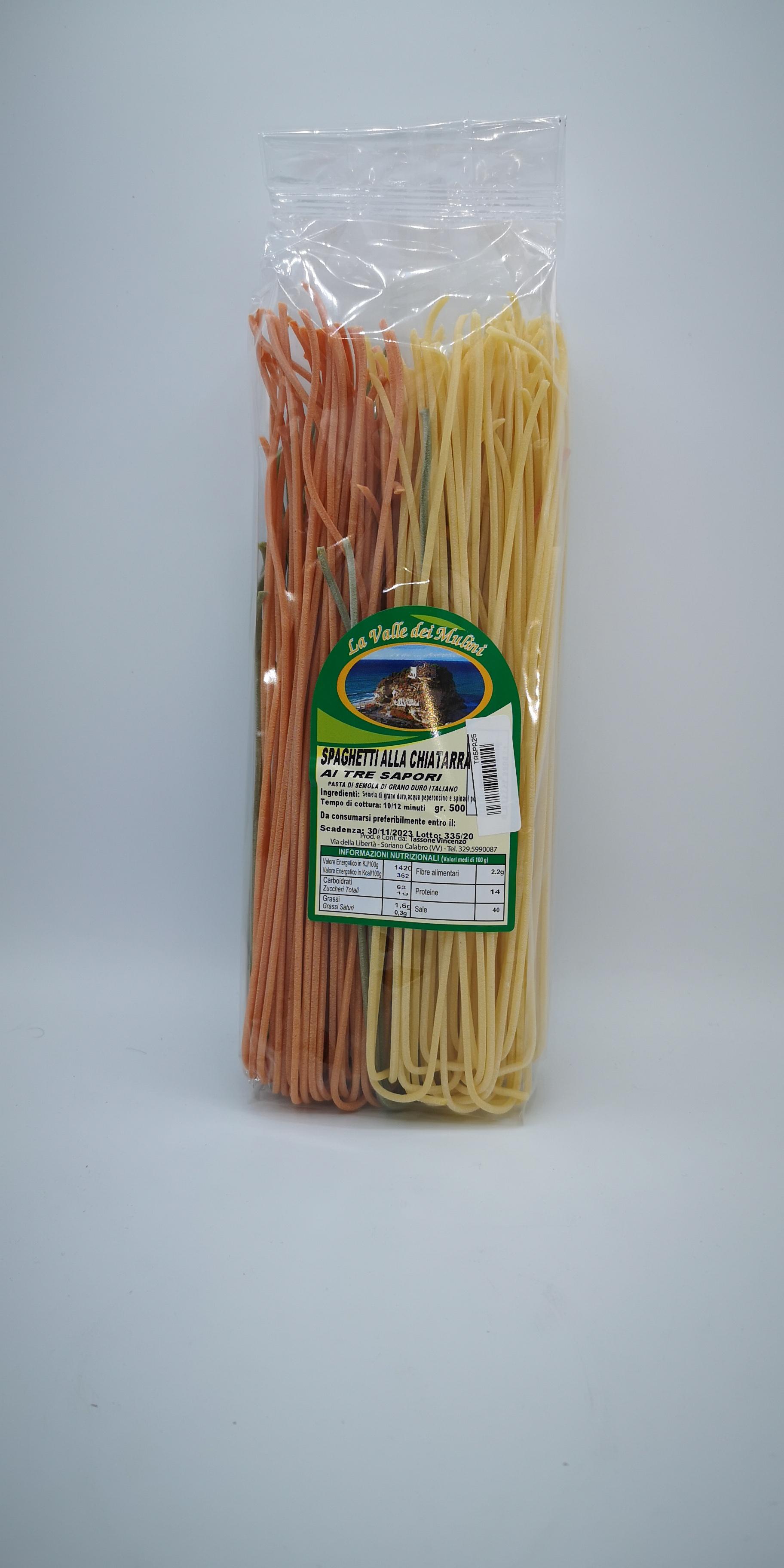 La Valle Dei Mulini Spaghetti alla Chitarra ai Tre Sapori GR.500