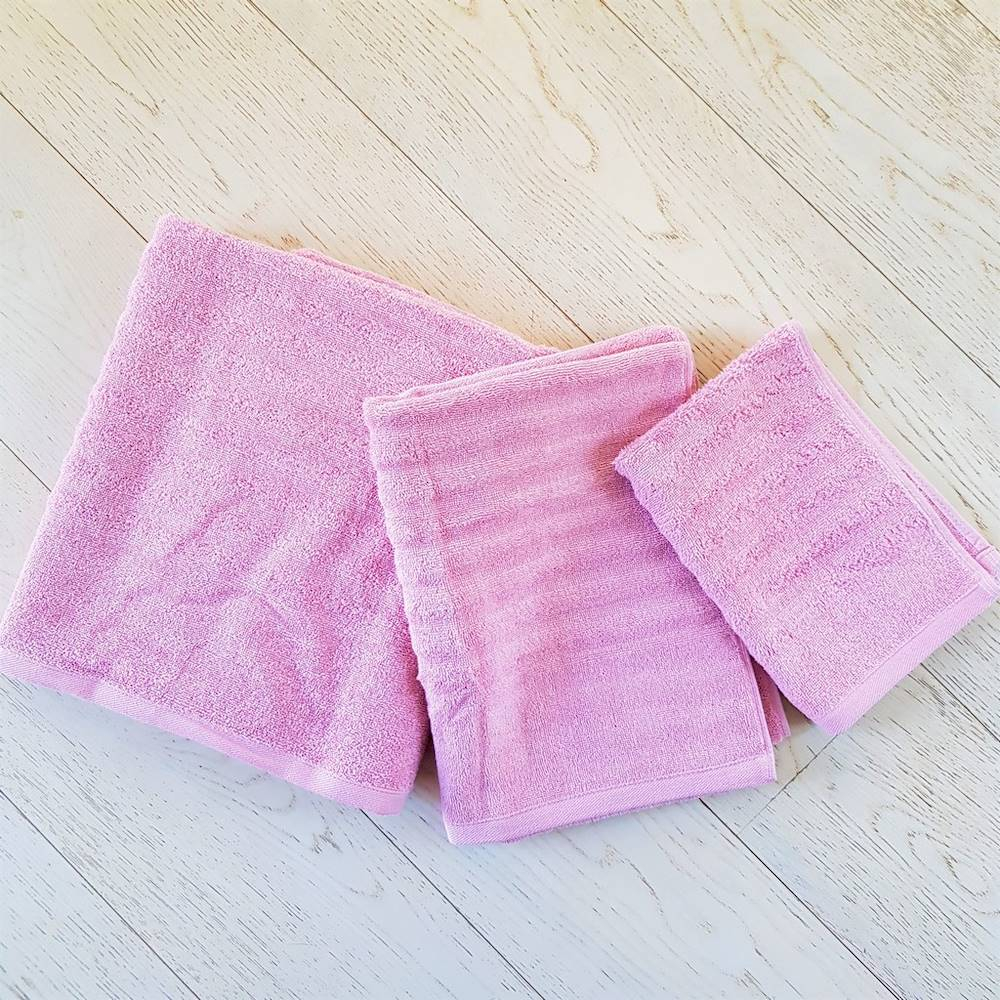 Asciugamani rosa effetto onda