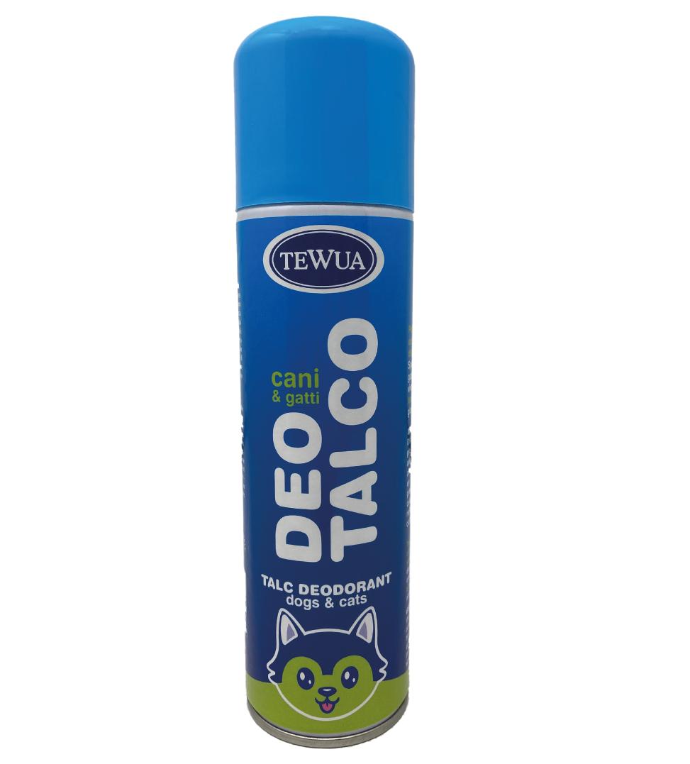 Tewua - Deodorante al talco per cani e gatti - Aereosol 250 ml