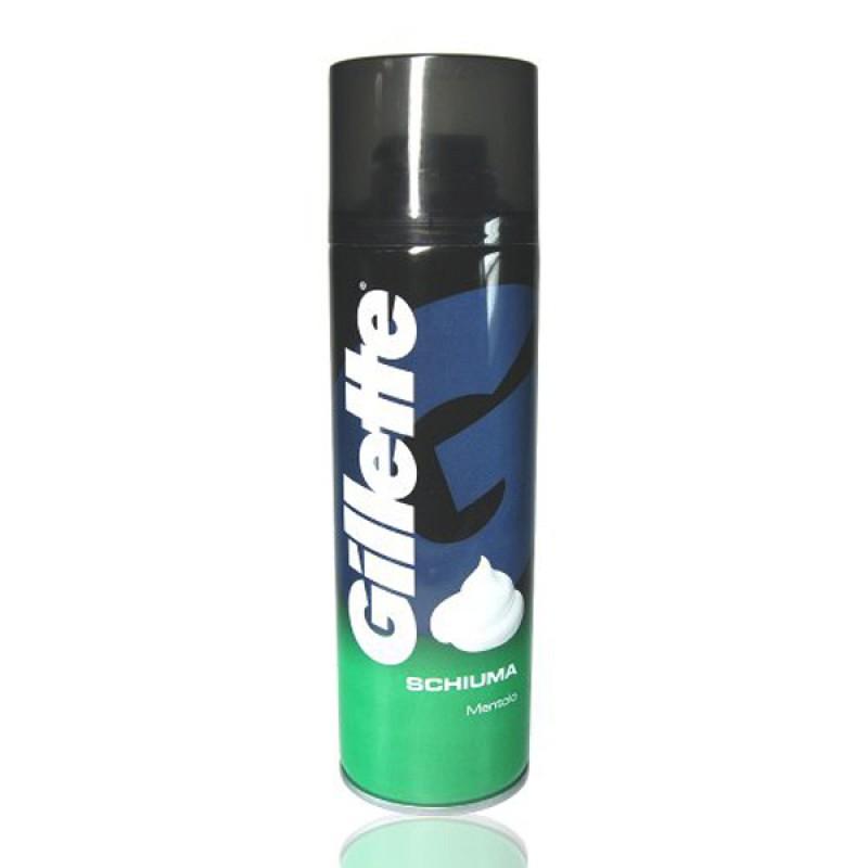 GILLETTE schiuma da barba mentolo rinfrescante 300 ml