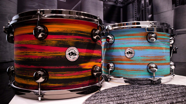 DS DRUM BATTERIA MAHOGANY URBAN AZURE/GREEN