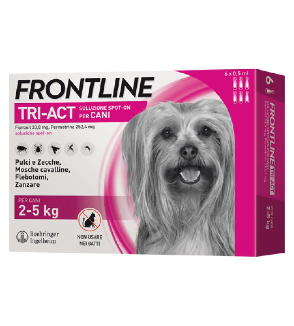 Frontline - TriAct - Da 2 a 5 kg - 6 pipette
