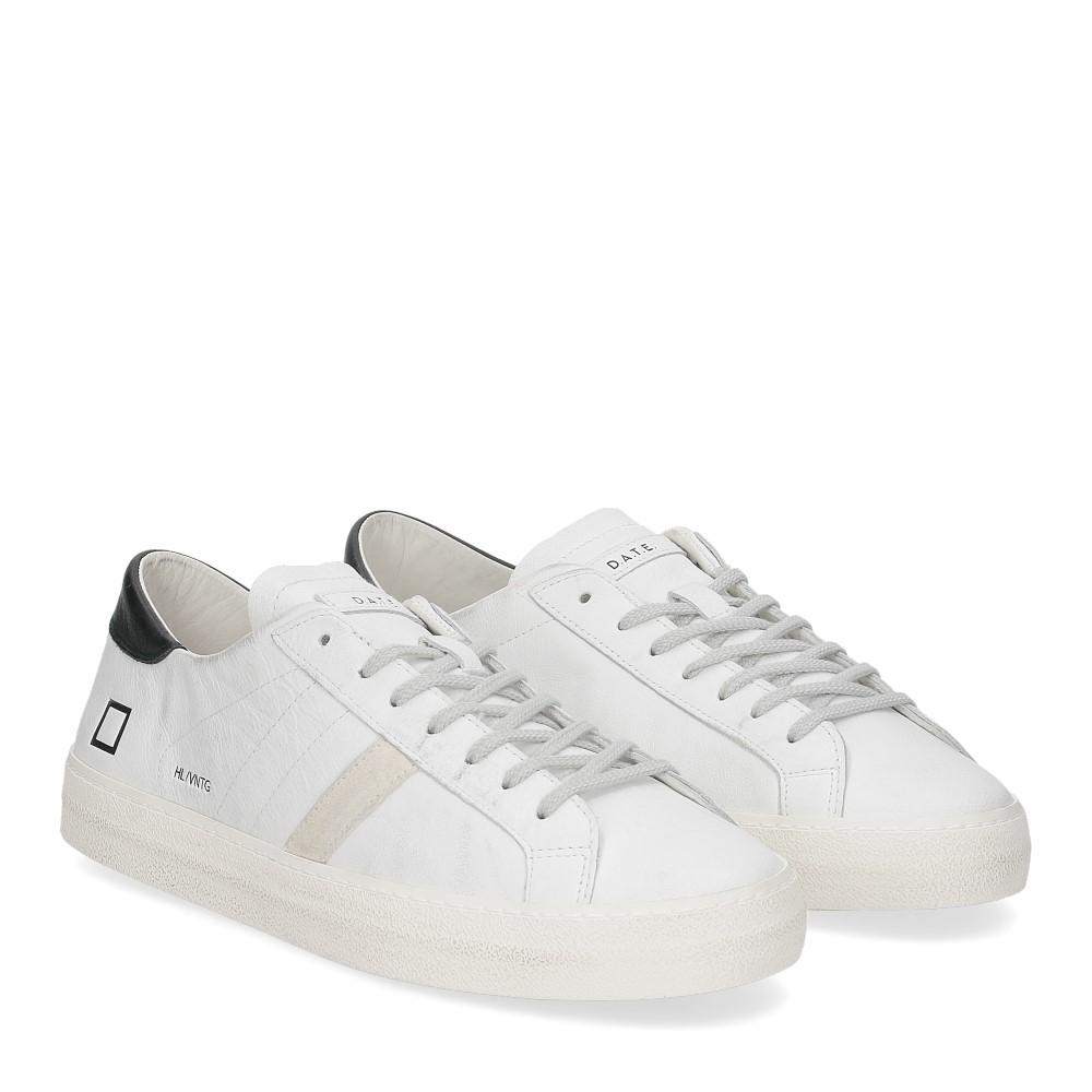 D.A.T.E. Hill low vintage calf white black