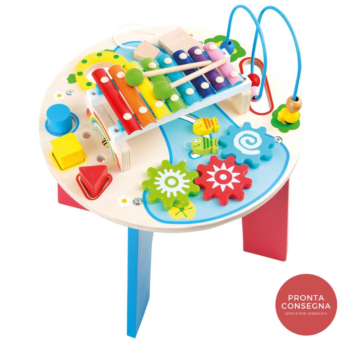 Tavolo musicale giocattolo motorio 2 in 1