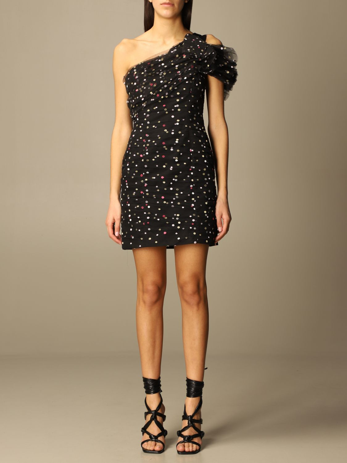 Minidress in tulle con pois philosophy di lorenzo serafini