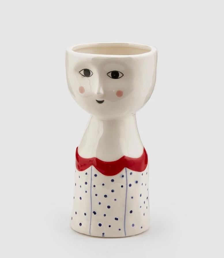Vaso Elisa ceramica viso stilizzato