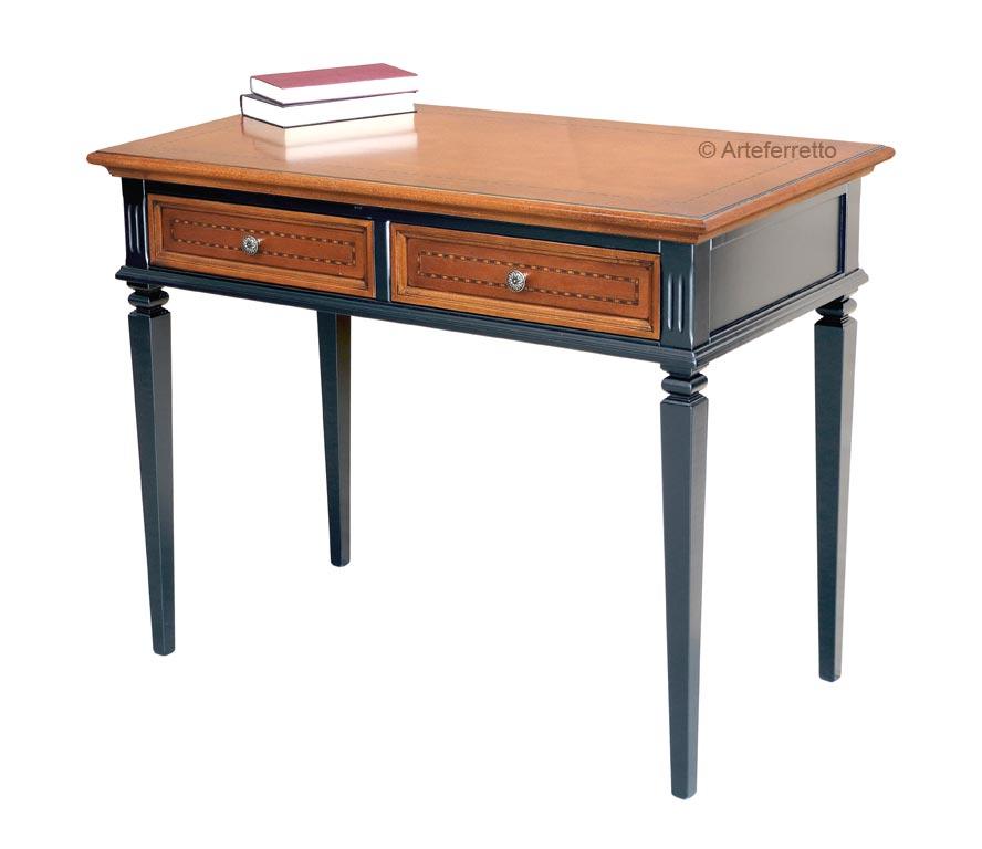 Zweifarbiger Schreibtisch mit Einlegearbeit