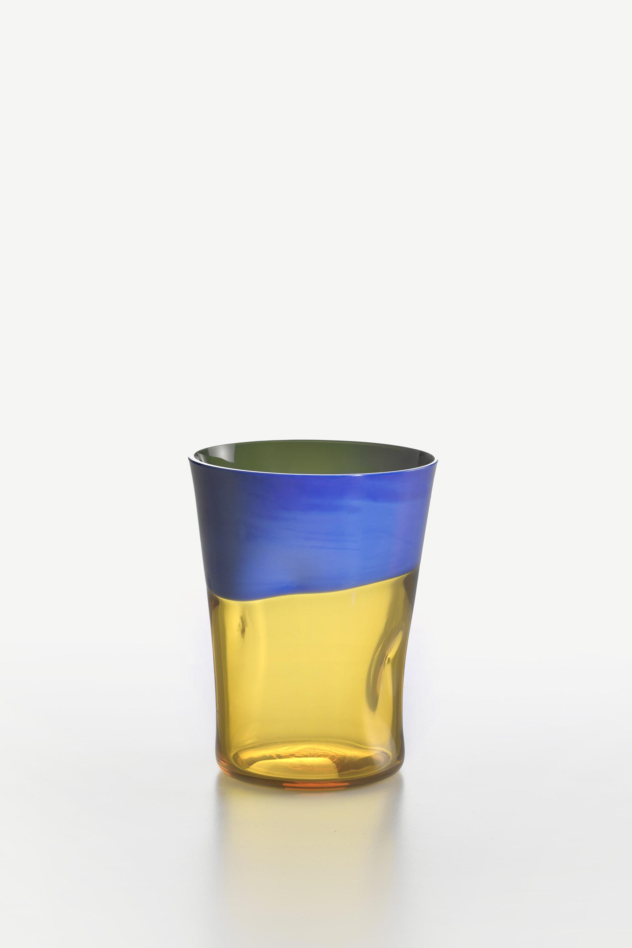 Bicchiere Acqua Dandy Blu-Giallo