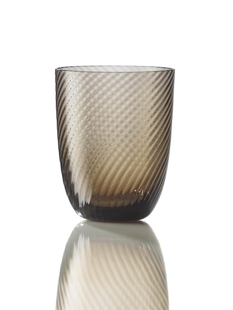 Bicchiere Idra Rigato Ritorto Marrone