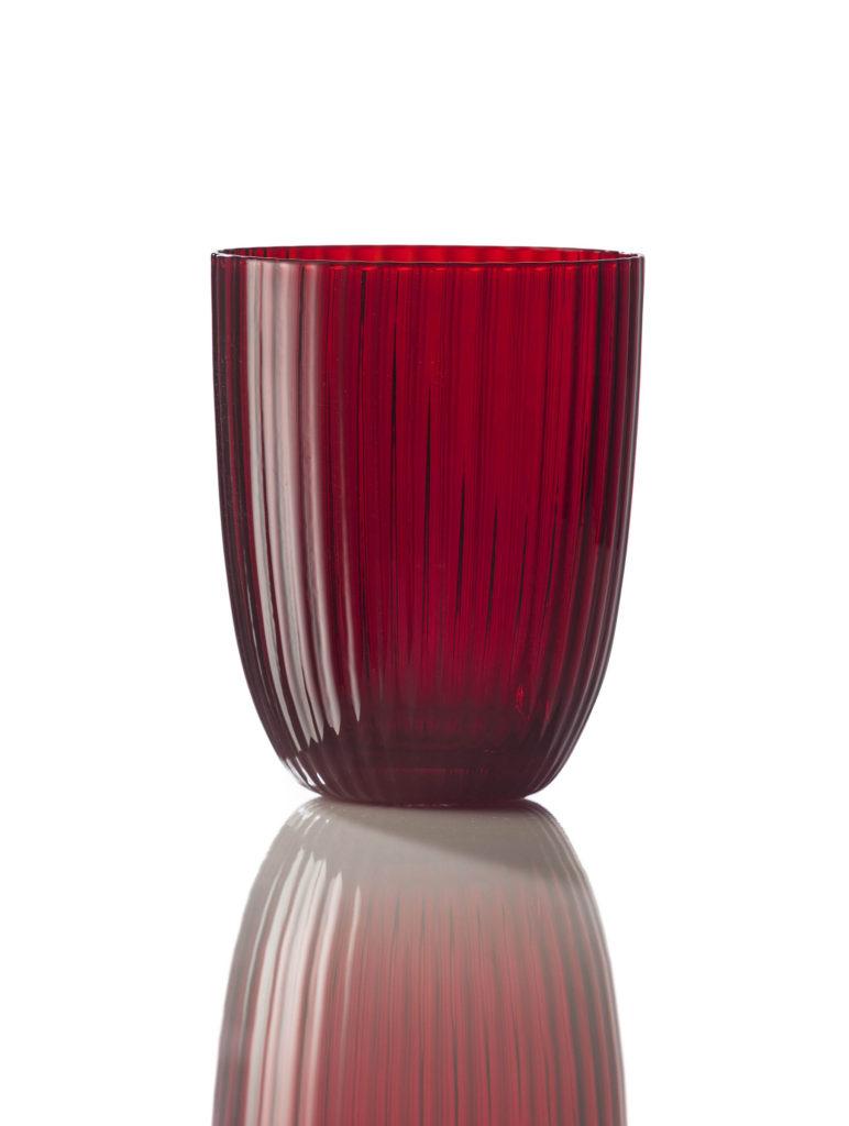 Bicchiere Idra Rigato Rosso