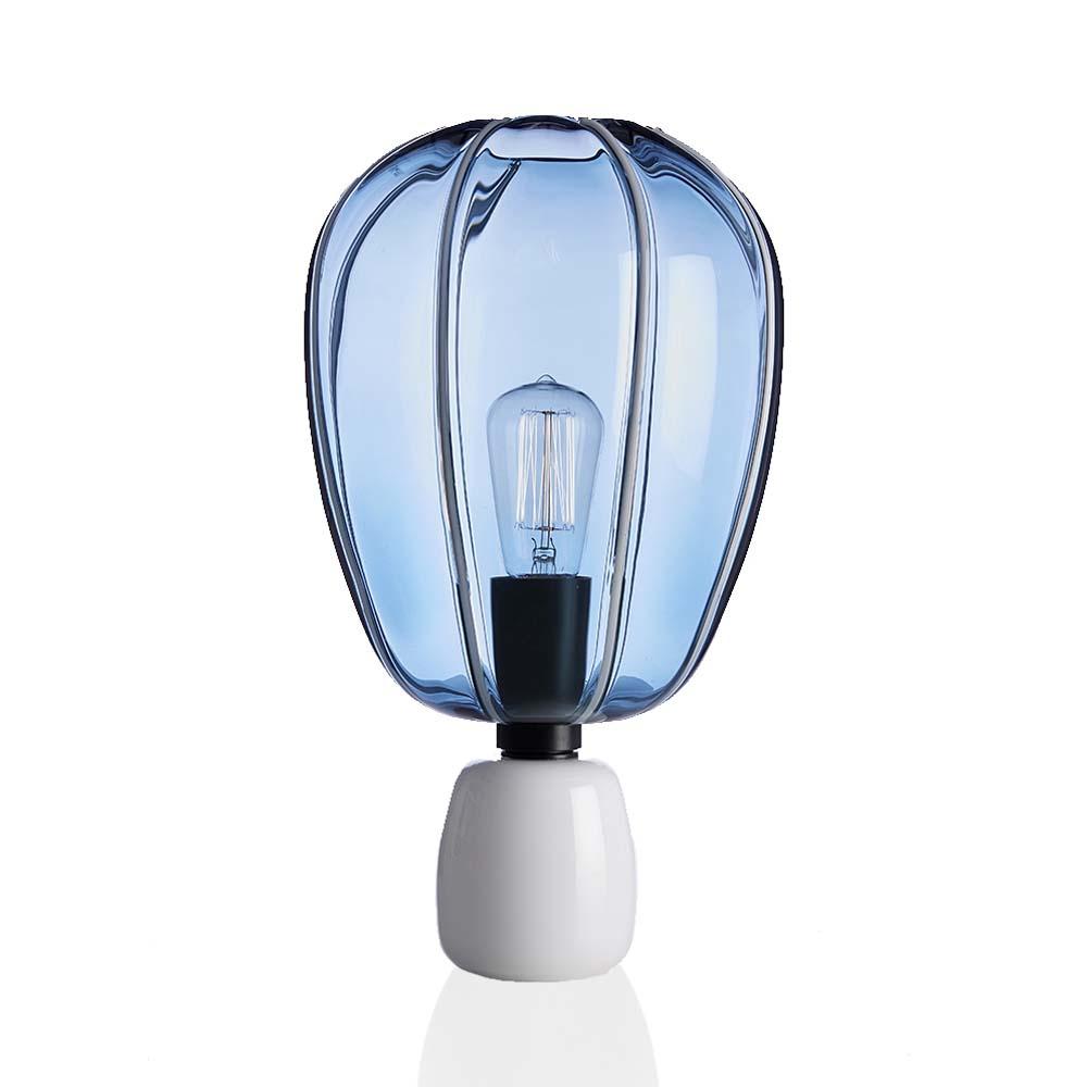 Lampada Mongolfiera Blu Avio-Bianco