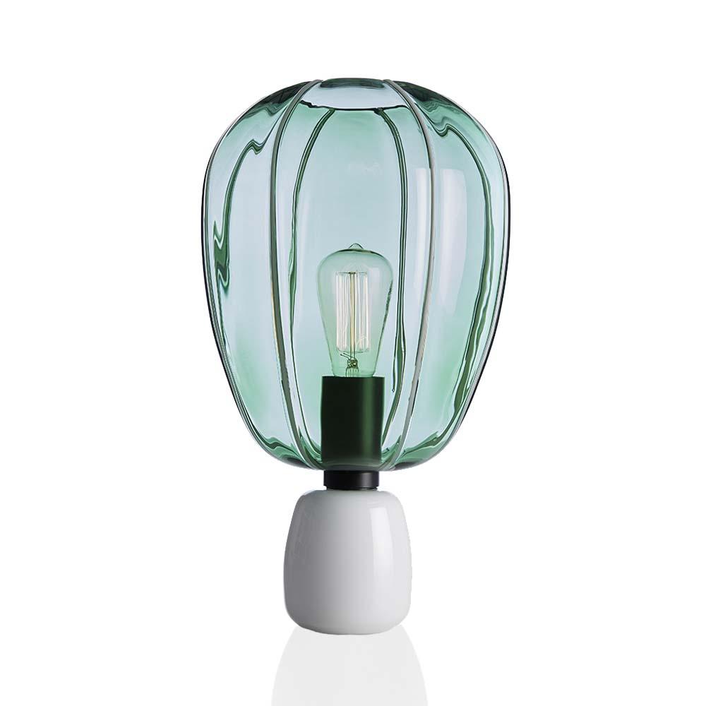 Lampada Mongolfiera Verde Alloro-Bianco
