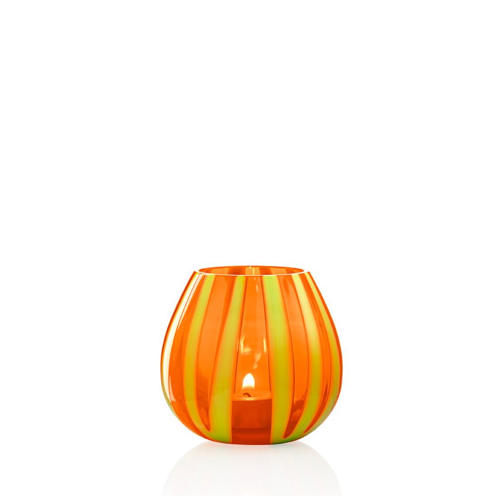 Portacandela String Girasole Arancio