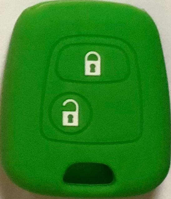 Cover Guscio Colorato Materiale Silicone Morbido Per Scocca Chiave Tasti Auto Peugeot 106 107 206 207 407 806 - 10 Colori (Verde)
