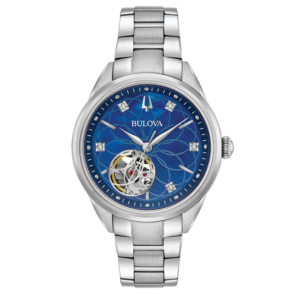Bulova Orologio Sutton, Automatic, Diamond blu