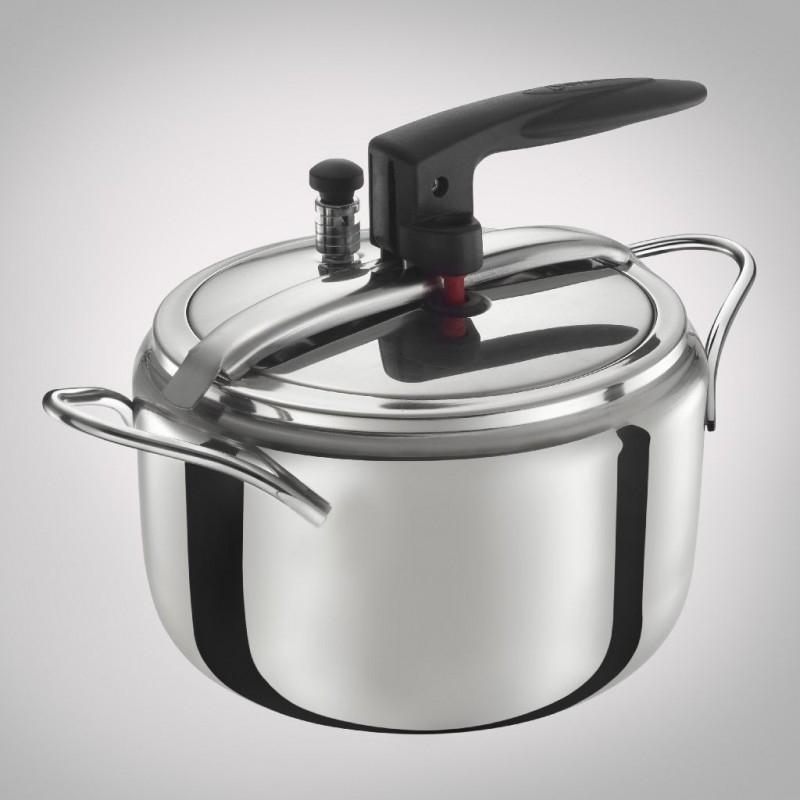 Divina Pentola a Pressione 7 Litri in Acciaio Inox Con Valvola di Sicurezza Cucinare