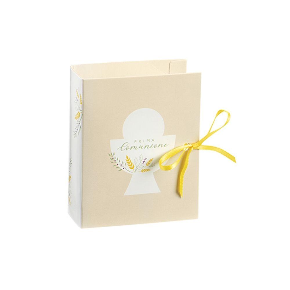 Astuccio libro Prima Comunione porta confetti