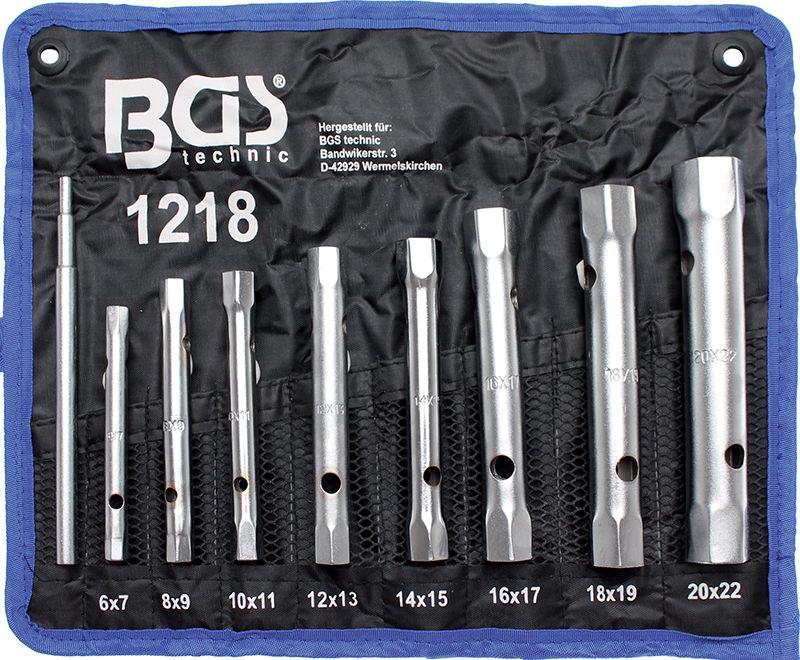 Serie 8 chiavi a tubo doppie mm 6-22 BGS 1218