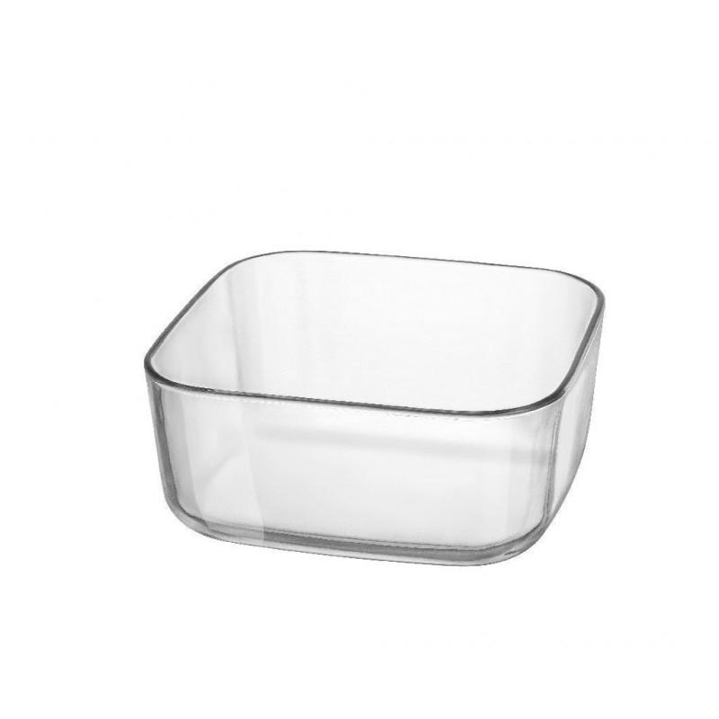 Contenitore in Vetro Trasparente Per Buffet Organize 19x19 cm Adatto per Qualsiasi Tipo Di Cibo Freddo o Caldo