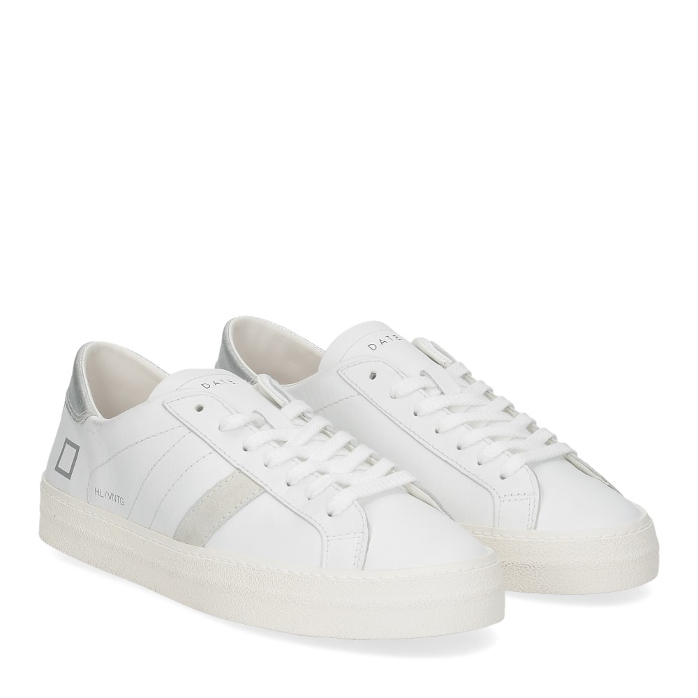 D.A.T.E. Hill Low vintage calf white silver
