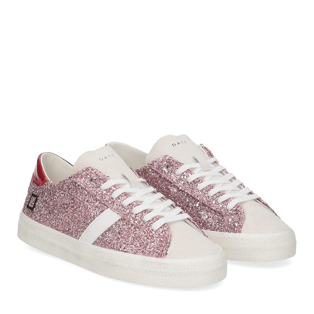 D.A.T.E. Hill Low glitter pink