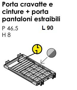 PORTA CRAVATTE/CINTURE/ PANTALONI ESTRAIBILE SCORREVOLE GOLF