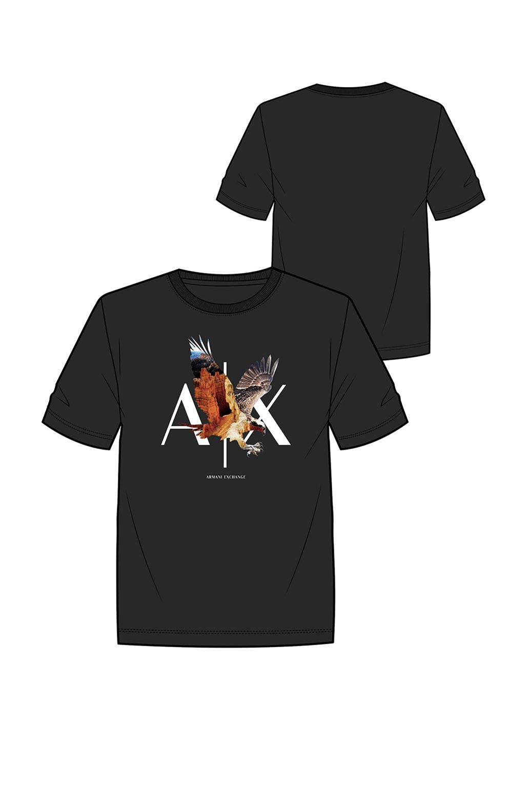 T-shirt uomo ARMANI EXCHANGE stampa con acquila