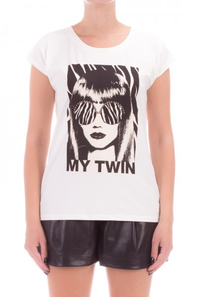 T shirt girocollo con stampa TWIN SET