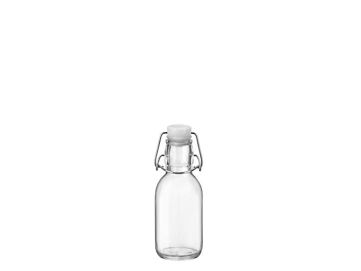 Bottiglietta liquori in vetro trasparente da 0,25 lt