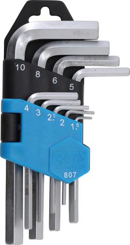 Serie chiavi a brugola maschio esagonale mm 1,5 - 10 BGS 807