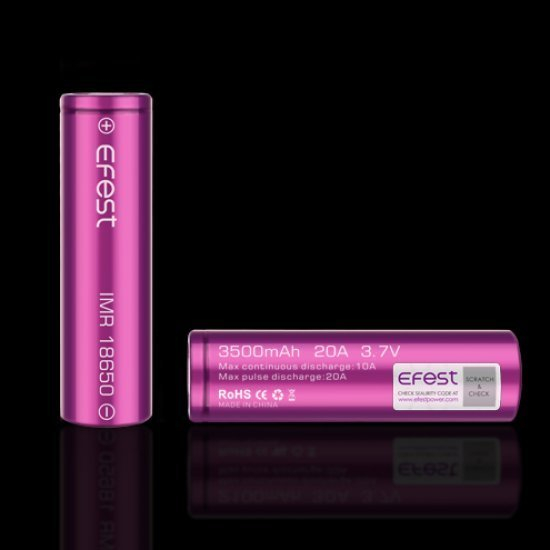 Efest Purple 18650 3500mah IMR 20A