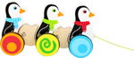 Giocattolo da tirare Pinguini